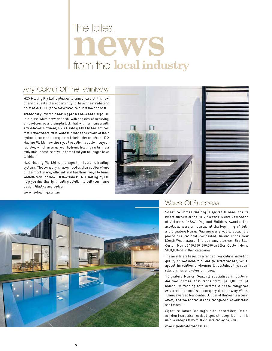 News & Press | Hydronic Heating Melbourne - H2O Heating
